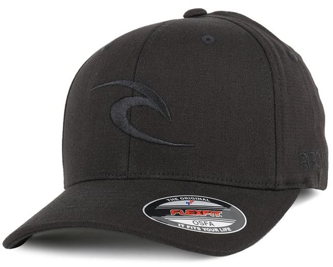 Tepin Curve Peak Black Adjustable - Rip Curl