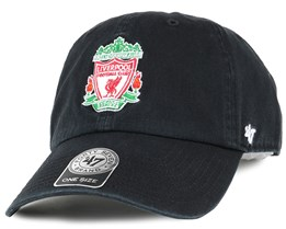 Liverpool FC Crest Clean Up Black Adjustable - 47 Brand