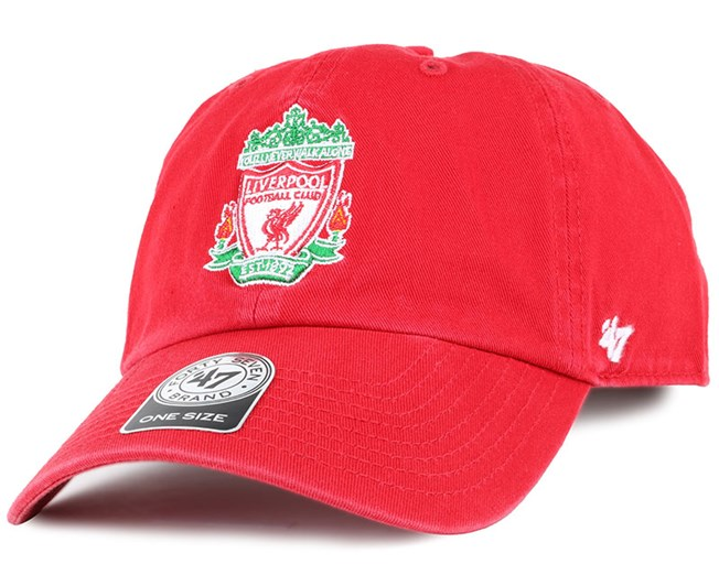 Liverpool FC Crest Clean Up Red Adjustable - 47 Brand