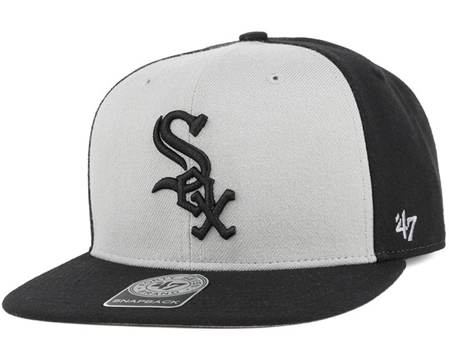 Chicago White Sox Sure Shot Accent Black Snapback - 47 Brand