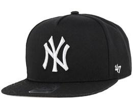 NY Yankees Metallic Elephant Black/Silver Snapback - 47 Brand