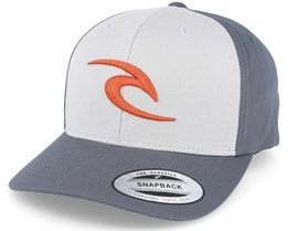 3D Icon Pewter Grey Snapback - Rip Curl