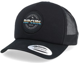 Labelled Black Trucker - Rip Curl