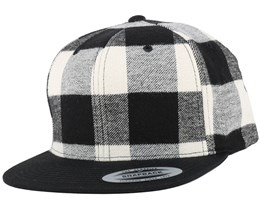 Checked Flanell Black/White Snapback - Yupoong