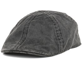 Level Co/Pe Black Flat Cap - Stetson