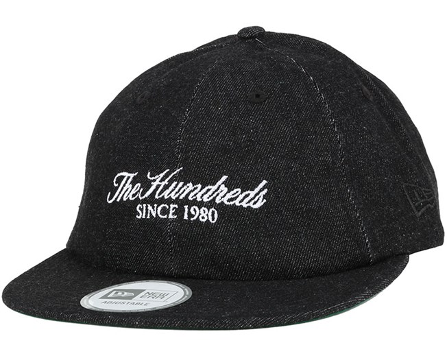 Worn New Era Black Strapback - The Hundreds