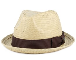 Castor Tan/Dark Brown Fedora - Brixton