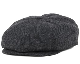 Brood Grey Plaid Flat Cap - Brixton
