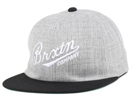 Fenway Heather Grey/Black Strapback - Brixton