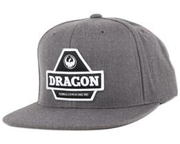 Pyramid Charcoal Snapback - Dragon