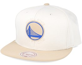 Golden state Warriors Serve Beige Snapback - Mitchell & Ness