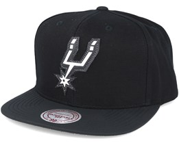 San Antonio Spurs Serve Black Snapback - Mitchell & Ness