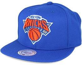 New York Knicks Wool Solid/Solid 2 Blue Snapback - Mitchell & Ness