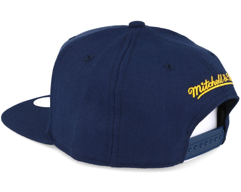 indiana pacers wool solid navy snapback mitchell ness. Black Bedroom Furniture Sets. Home Design Ideas
