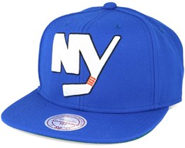 New York Islanders Wool Solid/Solid 2 Blue Snapback - Mitchell & Ness