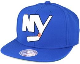New York Islanders Wool Solid/Solid 2 Blue Snapback - Mitchell & Ness