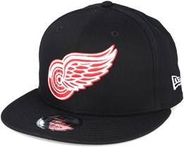 Detroit Red Wings Mno NHL Basic Black Snapback- New Era