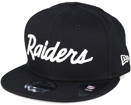 Oakland Raiders NFL Wordmark Black Snapback - New Era