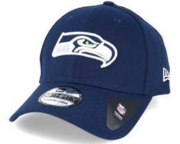 Seattle Seahawks NFL Team Essential Stretch Navy 39thirty Flexfit - New Era