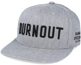 Burnout  Heather Grey Snapback - Diamond