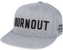 Burnout  Heather Grey Snapback - Diamond