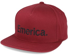 Pure Red Snapback - Emerica