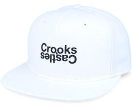 Oposite Snapback White Snapback - Crooks & Castles
