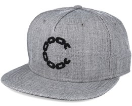 Chain C Grey Snapback - Crooks & Castles
