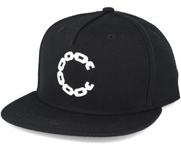 Chain C Black Snapback  - Crooks & Castles