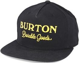 Durable Goods True Black Snapback - Burton