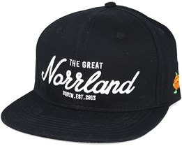 Great Norrland Black Snapback - Sqrtn
