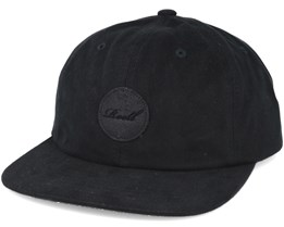 Suede 6-Panel Black Adjustable - Reell