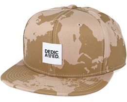 World Camo Kaki Snapback - Dedicated