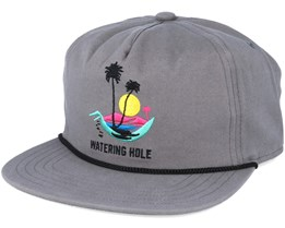 The Great outdoors. Grey Snapback - Coal