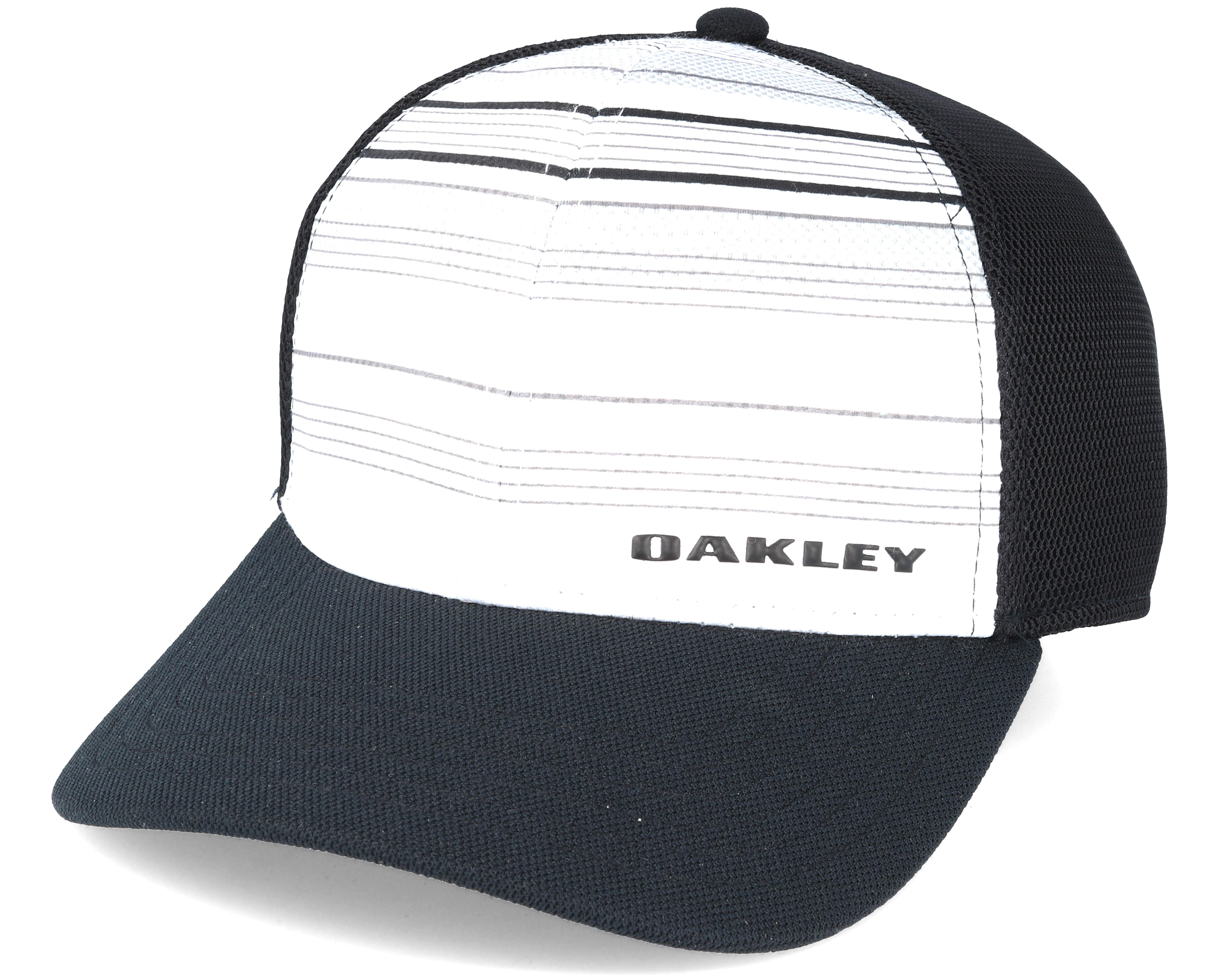 Silicone Bark Trucker Print 2.0 White Black Flexfit - Oakley caps ... 46332324a94