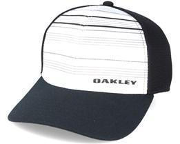 Silicone Bark Trucker Print 2.0 White/Black Flexfit - Oakley