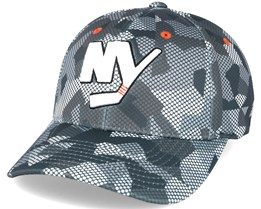 New York Islanders Carbon Camo Slouch Flexfit - Mitchell & Ness