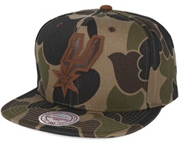 San Antonio Spurs Lux Camo Strapback Adjustable - Mitchell & Ness