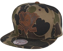 Anaheim Ducks Lux Camo Strapback Adjustable - Mitchell & Ness