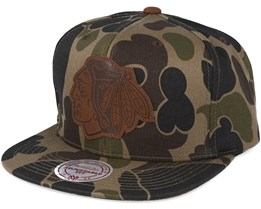 Chicago Blackhawks Lux Camo Strapback Adjustable - Mitchell & Ness