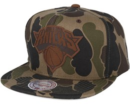 New York Knicks Lux Camo Strapback Adjustable - Mitchell & Ness