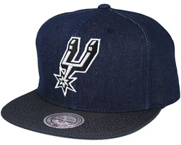San Antonio Spurs Raw Denim 3T PU Snapback - Mitchell & Ness