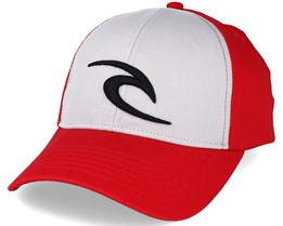 Icon Grey/Red Snapback - Rip Curl
