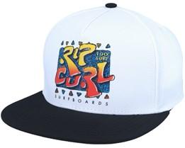 100% Rad White Snapback - Rip Curl