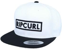 Undertow Box White/Black Snapback - Rip Curl