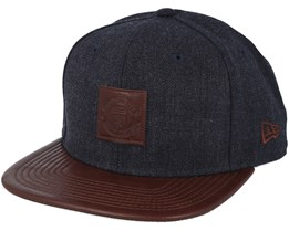 Manchester United Minipatch 9Fifty Dark Grey/Brown Snapback - New Era