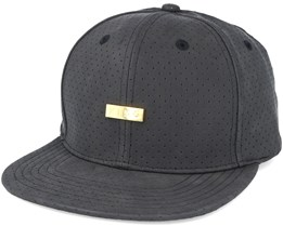 Luxe Pref Crached Leather Black Snapback - King Apparel