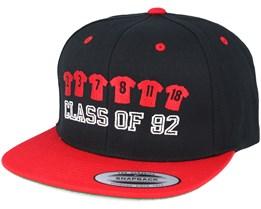 Classo92 Black/Red Snapback - Forza