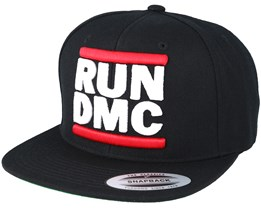 Run DMC Logo Black Snapback - Mister Tee