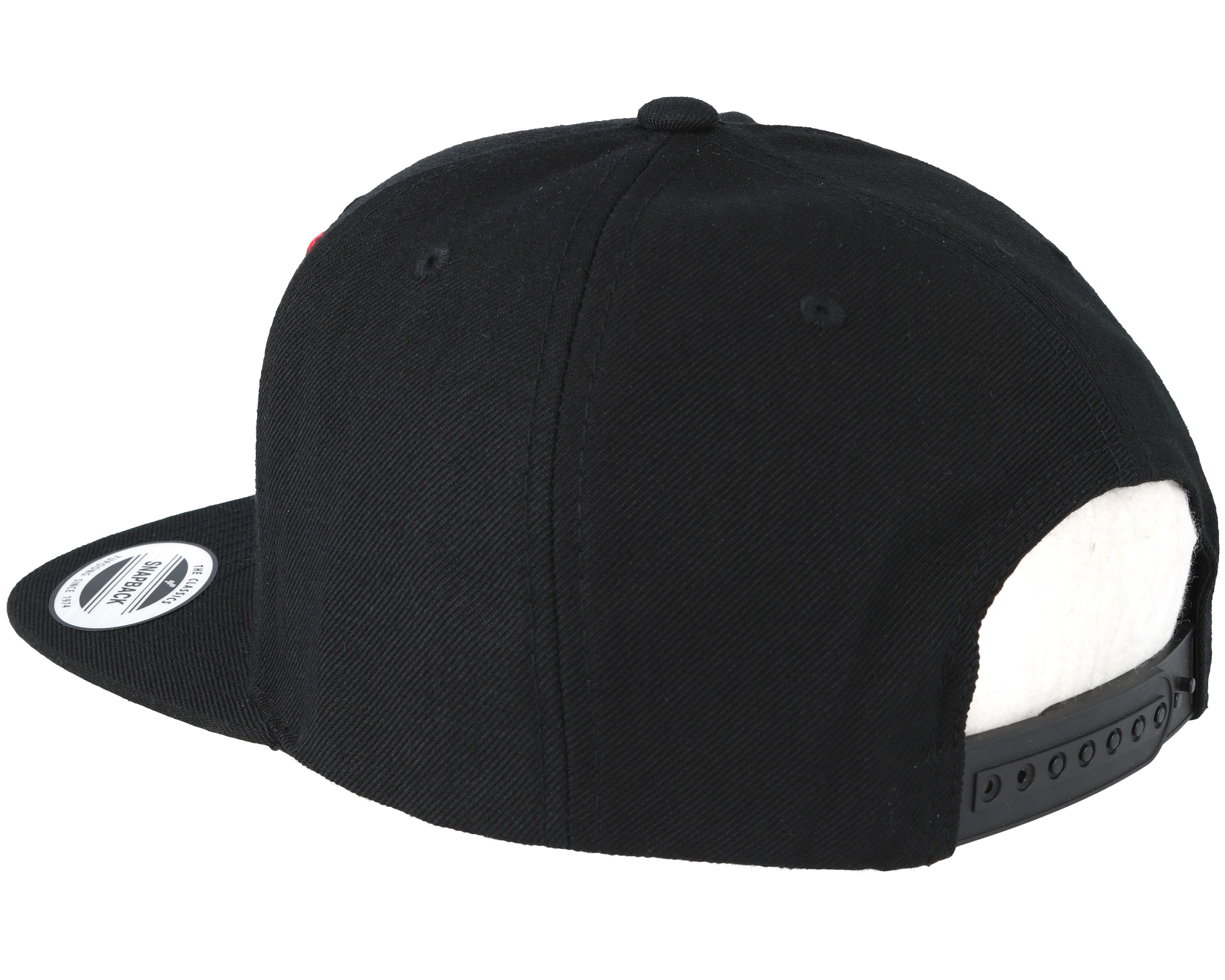 Run Dmc Logo Black Snapback Mister Tee Caps Hatstore Co Uk